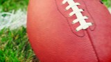Football: Camera Moves Horizontal From Grass To Other Side Of Ball