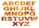 Alphabet Flame Letters