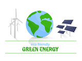 Eco friendly. Green energy