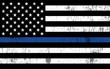 Police Support Flag Illustration