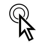 large cursor hand icon on white background