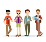 Men travelers