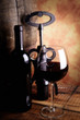 red wine - tilt shift selective focus effect photo