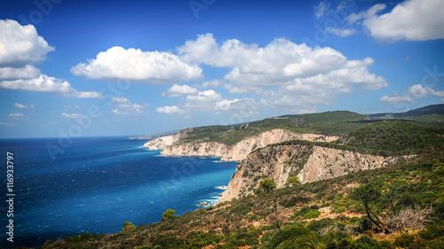 Zdjęcia na płótnie, fototapety, obrazy : Panorama of Zakynthos island on a sunny summer day