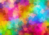 Abstract Pattern from Multicolored watercolor Backgrounds