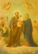ROME, ITALY - MARCH 10, 2016: The painting of Holy Family in church Basilica di Santa Maria Ausiliatrice by unknown artist of 20. cent.