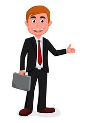 Happy Businessman presenting  © musri