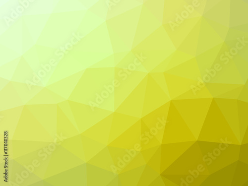Abstract yellow gradient low polygon shaped background