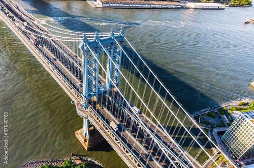 Manhattan Bridge over the East River in New York