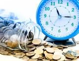 coin saving time concept