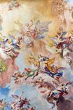 BRESCIA, ITALY - MAY 23, 2016: The Glory of Santa Eufemia fresco on the wault of presbytery of Sant'Afra church by Antonio Mazza (18. cent.) by Antonio Mazza and Carlo Innocenzo Carloni.