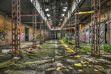 Abandoned dilapidated warehouse