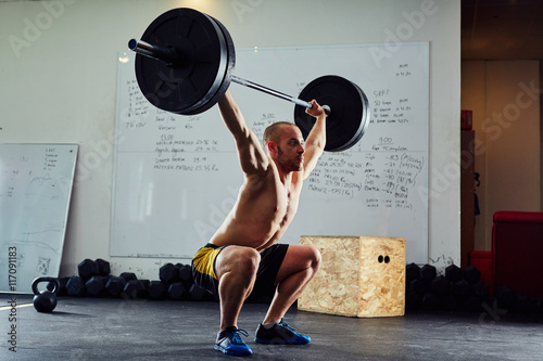 Juliste The clean and jerk exercise