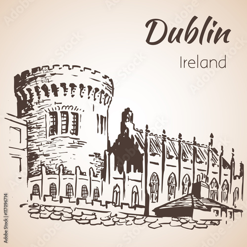 Poster Dublin Castle - Ireland