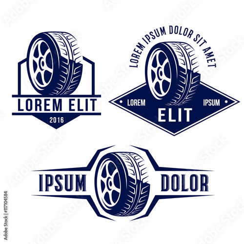 Set Of Car Related Signs Logos Icons And Symbols Buy Photos Ap