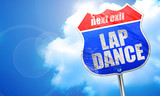 lap dance, 3D rendering, blue street sign