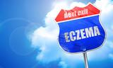 eczema, 3D rendering, blue street sign