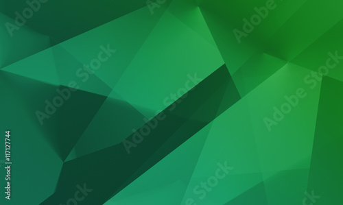 Abstract polygonal green background