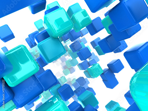 cubes background - 117131322