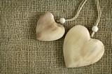 Wooden heart amulet