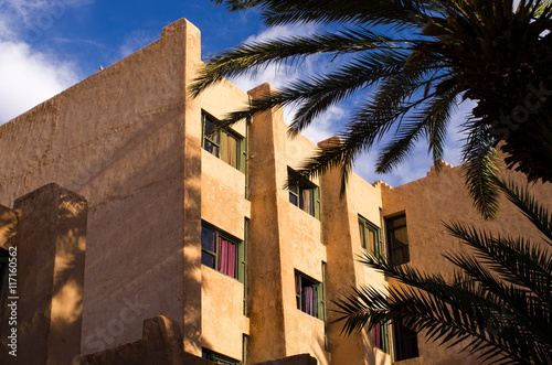 Fotobehang Marokko Walls of typical riad in Morocco