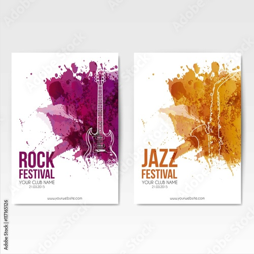Fototapeta Rock festival posters