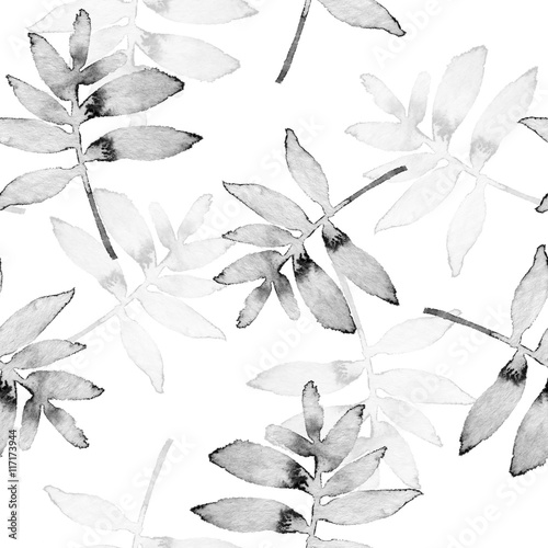 Branches. Watercolor background. Seamless pattern 4 - 117173944