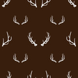 Antlers background, seamless pattern. Vector illustration EPS 10