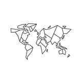Abstract geometric world map, vector illustration EPS 10