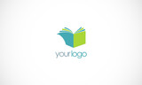book knowledge vector logo