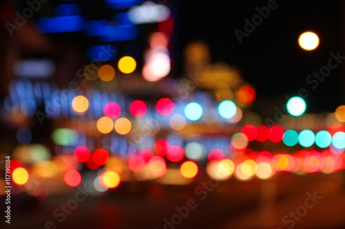 Plexiglas Las Vegas Night city blur - Las Vegas