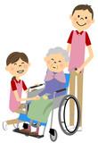 Fototapety 車椅子に座る高齢者
