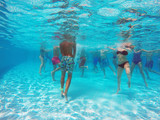 aqua aerobics in the pool - 117241302