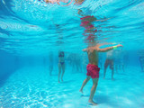 aqua aerobics in the pool - 117241328