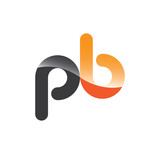 pb initial grey and orange with shine