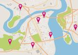Vector horizontal city map
