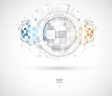 Fototapety Abstract tech background. Futuristic technology interface. Vector great future desicion