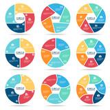 Circle infographic (part four, part Five and part six) vector set design - 117267529