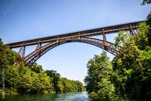 iron bridge over the river Adda Lombardia Italy Poster