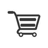 Shopping cart market store buy icon. Shopping commerce concept. Isolated and flat illustration. Vector graphic