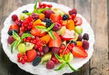Fresh fruit salad on the plate