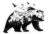 Hand drawn bear for your design, wildlife concept - 117307540