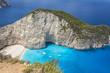 Постер, плакат: Бухта Навагио острова Закинф в Греции