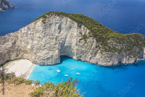 Постер, плакат: Бухта Навагио острова Закинф в Греции , холст на подрамнике