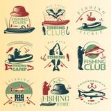 Fishing Colored Emblem Set