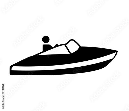 fast boat silhouette icon