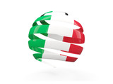 Flag of italy, round icon