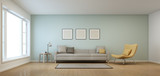 Living room in modern house - 3D rendering - 117330744