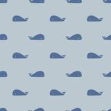 seamless whale pattern - 117338378