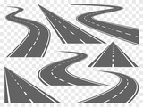 Fototapety Bending roads vector set
